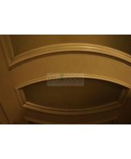 Фото установленной Двери Вист Вена Черная Патина ДГ