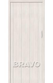 Раздвижная пластиковая дверь Браво-008, Белый Дуб
