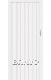 Раздвижная пластиковая дверь Браво-008, Белый глянец