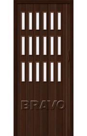 Раздвижная пластиковая дверь Браво-018, Венге
