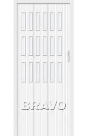 Раздвижная пластиковая дверь Браво-018, Белый глянец