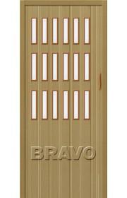 Раздвижная пластиковая дверь Браво-018, Светлый Дуб