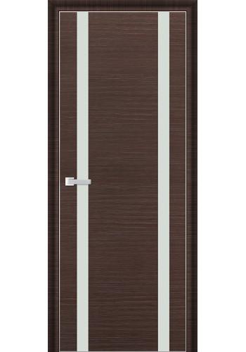 Дверь Профиль Дорс 9D Венге Браш Стекло Белый Лак