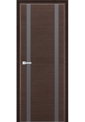 Дверь Профиль Дорс 9D Венге Браш Стекло Серебряный Лак