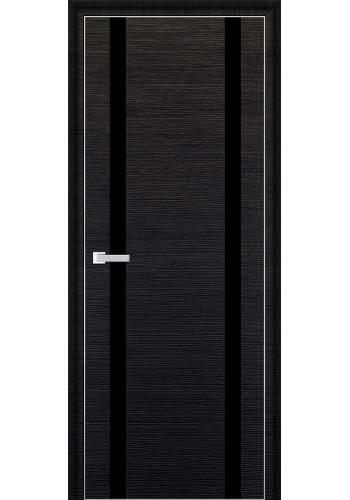Дверь Профиль Дорс 9D Черный Браш Стекло Черный Лак