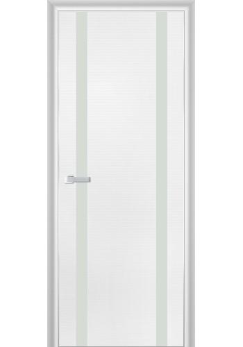 Дверь Профиль Дорс 9D Белая Волна Стекло Белый Лак