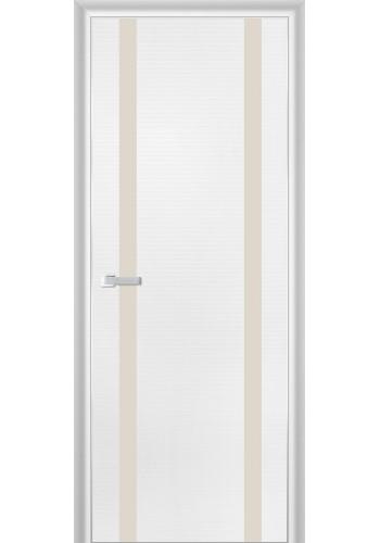 Дверь Профиль Дорс 9D Белая Волна Стекло Перламутровый Лак