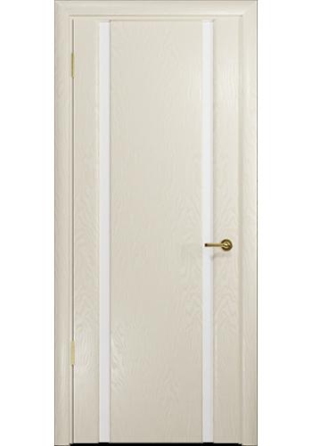 Дверь Арт Деко Спациа 2 Аква Белый триплекс