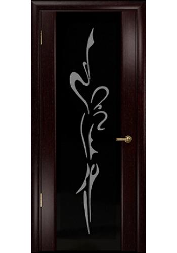 Дверь Арт Деко Спациа 3 Венге Балерина Черный триплекс