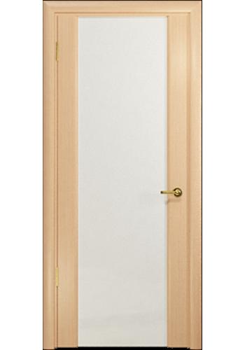 Дверь Арт Деко Спациа 3 Беленый дуб Светлый триплекс