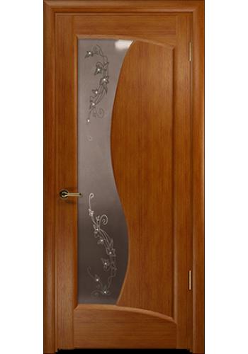 Дверь Арт Деко Смеральда темный анегри ДО бронза со стразами