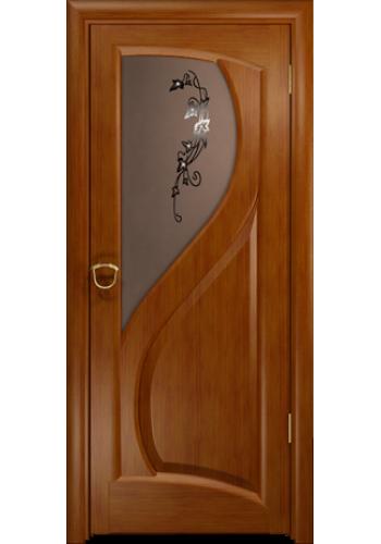 Дверь Арт Деко Скорциа темный анегри ДО бронза со стразами