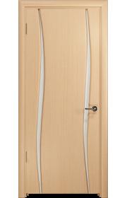 Дверь Арт Деко Вэла 2 беленый дуб ДО