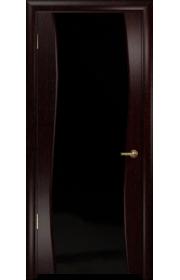 Дверь Арт Деко Вэла венге ДО черный триплекс