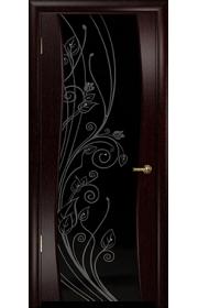 Дверь Арт Деко Вэла венге ДО черный триплекс стразы