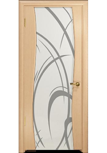 Дверь Арт Деко Вэла беленый дуб ДО рисунок