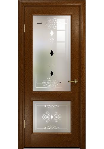 Дверь Арт Деко Ченере 2 Терра стекло Джелло