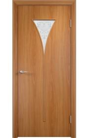 Двери Верда С-04 Миланский орех Художественное остекление