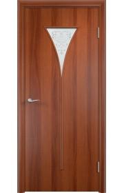 Двери Верда С-04 Итальянский орех Художественное остекление
