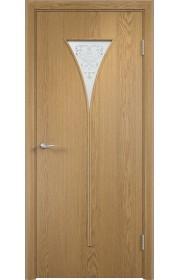 Двери Верда С-04 Светлый дуб Художественное остекление