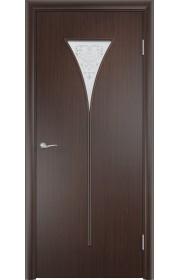 Двери Верда С-04 Венге Художественное остекление