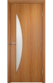 Дверь Верда С-06 Миланский орех Стекло матовое
