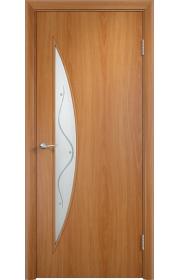 Дверь Верда С-06 Миланский орех Стекло с рисунком