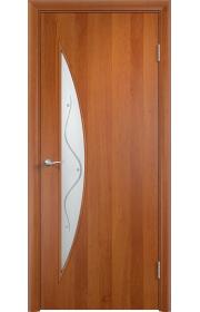 Двери Верда С-06 Груша Стекло Сатинато с фьюзингом