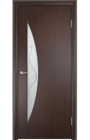 Двери Верда С-06 Венге Стекло Сатинато с фьюзингом