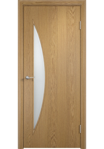 Двери Верда С-06 Светлый дуб Стекло Сатинато