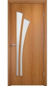 Двери Верда С-07 Миланский орех Стекло Сатинато