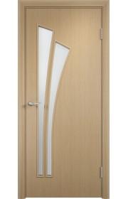 Двери Верда С-07 Беленый дуб Стекло Сатинато