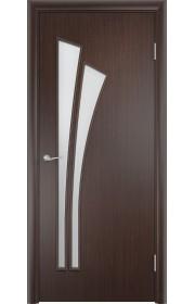 Двери Верда С-07 Венге Стекло Сатинато