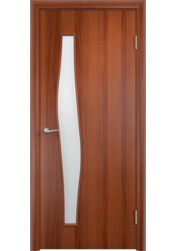 Двери Верда С-10 Итальянский орех Стекло Сатинато