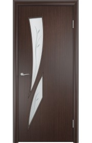 Двери Верда С-02 Венге Стекло Сатинато с фьюзингом
