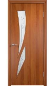 Двери Верда С-02 Груша Стекло Сатинато с фьюзингом