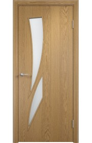 Двери Верда С-02 Светлый дуб Стекло Сатинато