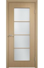 Двери Верда С-08 Беленый дуб Стекло Сатинато