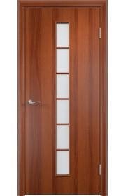 Двери Верда С-12 Итальянский орех Стекло Сатинато
