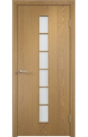 Двери Верда С-12 Светлый дуб Стекло Сатинато