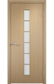 Двери Верда С-12 Беленый дуб Стекло Сатинато