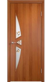 Двери Верда С-01 Груша Стекло Сатинато с фьюзингом