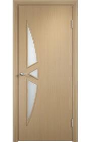 Двери Верда С-01 Беленый дуб Стекло Сатинато
