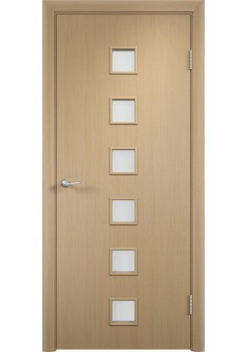 Двери Верда С-09 Беленый дуб Стекло Сатинато