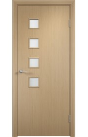 Двери Верда С-13 Беленый дуб Стекло Сатинато
