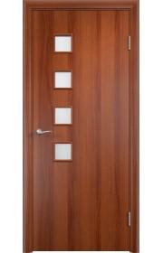 Двери Верда С-13 Итальянский орех Стекло Сатинато
