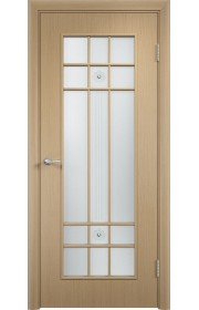 Двери Верда С-15 Беленый дуб Стекло Сатинато с фьюзингом