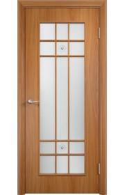 Двери Верда С-15 Миланский орех Стекло Сатинато с фьюзингом