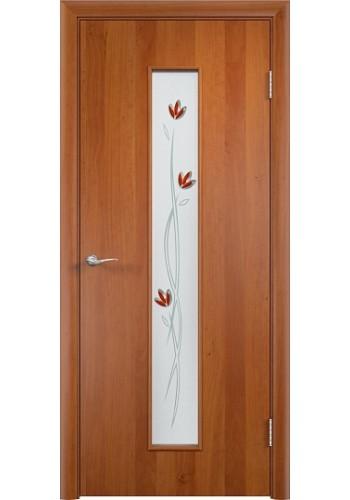 Двери Верда С-17 Груша Стекло Сатинато с фьюзингом тюльпан