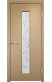 Двери Верда С-17 Беленый дуб Художественное остекление